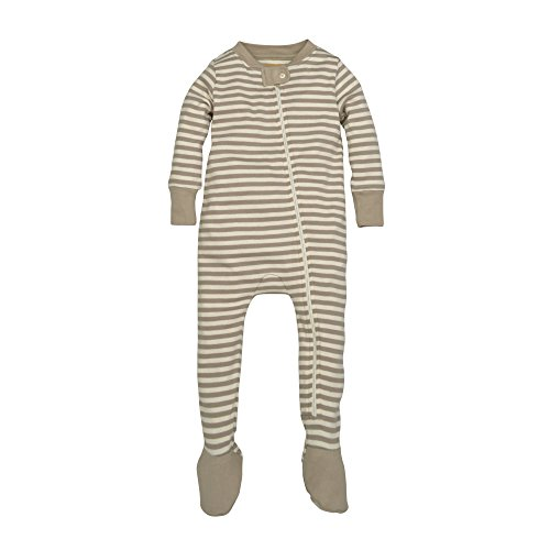 Full Zip 3 Stripes (Burt's Bees Baby Baby Organic Zip Front Sleeper, Dust Mini Stripe, 3-6 Months)