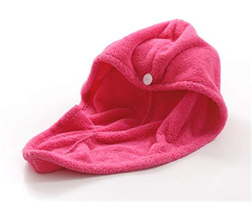 Towels Bathroom Hair Towel 1Pc Womens Girls Magic Hair Drying Hat Cap Salon Towels Quick Dry Bath Microfiber Fabric Red