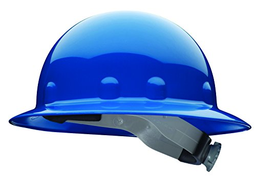 Full Graphics Hard Hat - Fibre-Metal by Honeywell SuperEight Thermoplastic Full Brim Hard Hat with 8-Point Ratchet Suspension, Blue