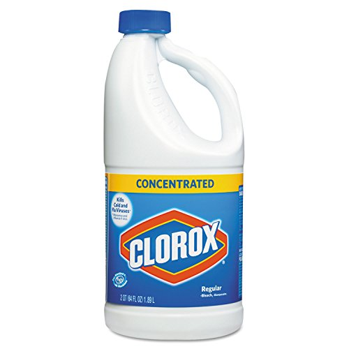 Clorox 30769 Concentrated Regular Bleach, 64oz Bottle (Case of 8) by Clorox