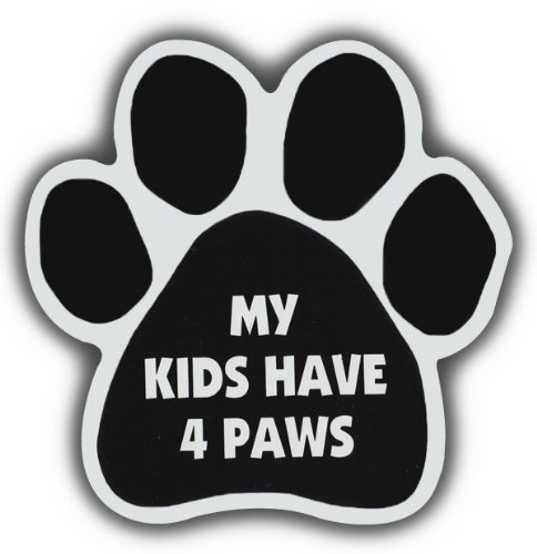 Car Magnet- Paw-My Kids Have 4 Paws- 5.5″ x 5.5″