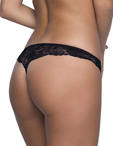 Women's Lace Eden Panty 5889 After 12 35 Black Thong wxzqUZP