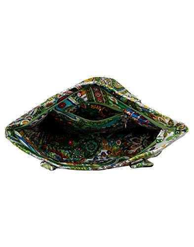 Cotone tradizionale verde della Borsa Scaglie di pesce macchina trapuntata signore By Rajrang