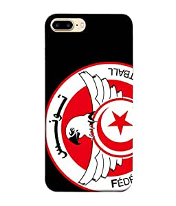 ColorKing Football Tunisia 07 Black shell case cover for Apple iphone 8 Plus