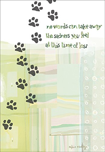 Pet Loss Sympathy Greeting Card Paw Prints (1) Single Card w/Env Made in USA