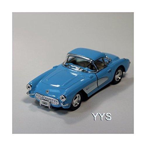 - 1957 Chevrolet Corvette 1:34 Scale Die-Cast Car by Kinsmart-Blue by Toysmith