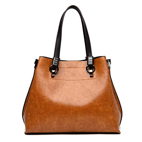 12cm Pink A Borse Tracolla Con Pu Donna Tote 23cm Da In Bag Pelle 29cm Mano Black HBgTBw