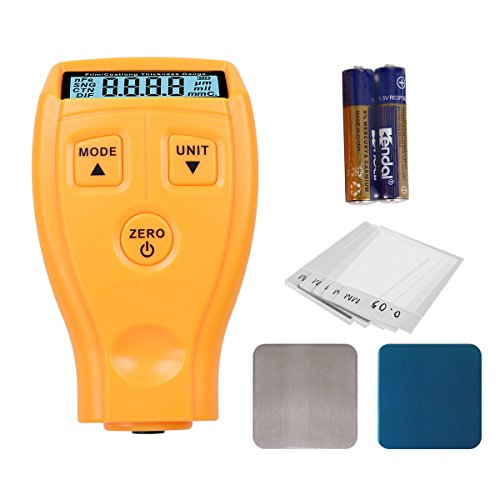 Digital Automotive Film / Coating Thickness Gauge, LCD Measuring 0~1.80mm / 0~71.0 Mil Ultrasonic Paint Iron Car Painting Thickness Tester Meter Tool for Manufacture, Metal Working, Chemical Industry
