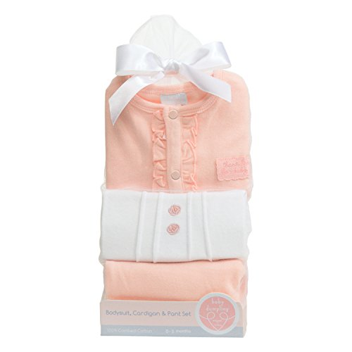 C.R. Gibson Heaven Sent Newborn Cardigan and Pants Gift Set,