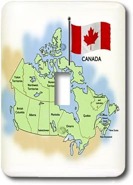 3dRose lsp_46643_1 Map and Flag Of Canada Showing All ...
