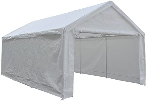 Abba Patio Extra Large Heavy Duty Carport with Removable Sidewalls Portable Garage Car Canopy Boat Shelter Tent for Party, Wedding, Garden Storage Shed 8 Legs, 12 x 20 Feet,White