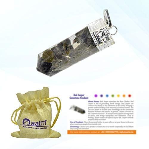 Aatm Natural Healing Smoky Quartz Gemstone Orgone Charm Pencil Pendant