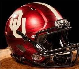 Oklahoma Sooners Riddell Speed Mini Replica Bring The Wood Football Helmet from Riddell