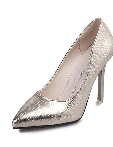 ZQ Zapatos de mujer-Tac¨®n Stiletto-Tacones / Puntiagudos-Tacones-Oficina y Trabajo / Casual / Fiesta y Noche-Semicuero-Negro / Rosa / Plata , golden-us8 / eu39 / uk6 / cn39 , golden-us8 / eu39 / uk6 green-us7.5 / eu38 / uk5.5 / cn38