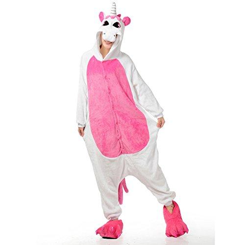 Costume Party Coupon Code (Adult Onesies Rose Unicorn Pajamas Onesie for Women Men Costume Cosplay Partywear Halloween Medium)