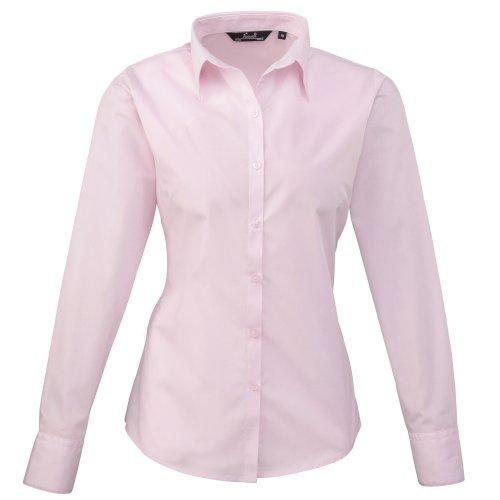 Rose 000 Premier longues Femme manches Chemisier Pink Pcnqav