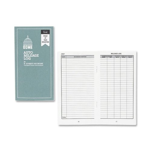 Dome Publishing Auto Mileage Log - 32 Sheet(s) - 6.25'' x 3.25'' Sheet Size - White - 1Each by DomeSkin (Image #1)