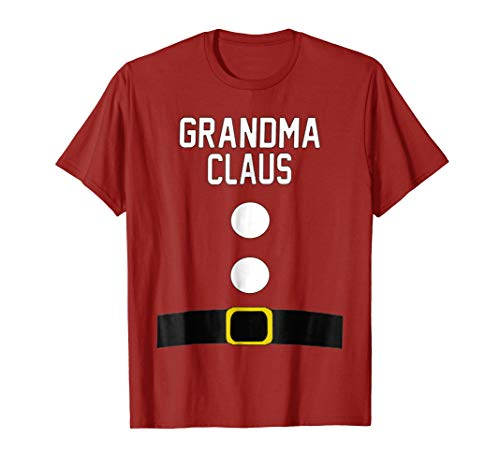 Grandma Santa Claus Suit T-Shirt Christmas Gift for Grandma -