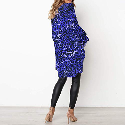 Henley Shirts Dress Iuhan Fashion Women Long Puff Sleeve Leopard Sweatshirt Top Blouse by Iuhan Women Blouse (Image #1)