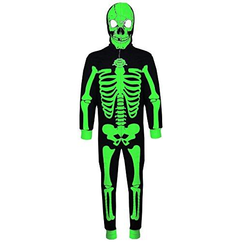 Kids Girls Boys Skeleton Print A2Z Onesie One Piece Halloween Costume 5-13 Year