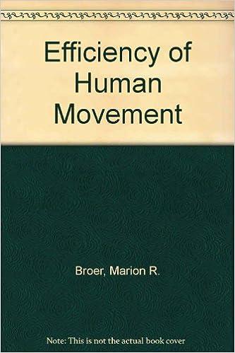 Efficiency Of Human Movement por Marion R. Broer epub