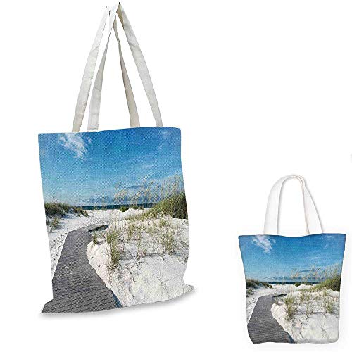 Beach canvas laptop bag Rustic Beach Pathway Heads to the Water in Florida Santa Rosa Island Summer Travel funny reusable shopping bag Cream Blue. - Santa Rosa Planters
