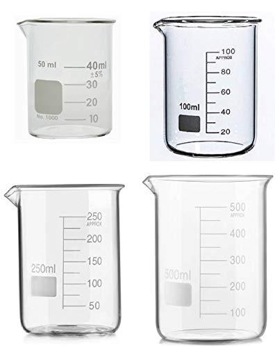 2000 ml, Beakers, Low Form, 3.3 Borosilicate Glass, Graduated, Pack of 6 MLB-02000J-6