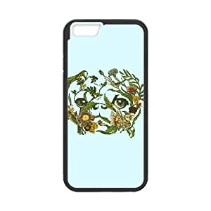 iPhone 6 Plus 5.5 Inch Cell Phone Case Black Botanical Pug nncb