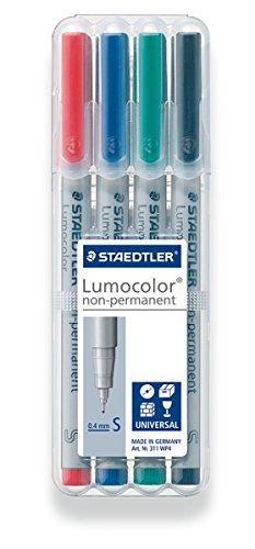 Staedtler Universal pen Lumocolor non-p S 4 Piece (311 WP4) (Dry Permanent Marker Erase)