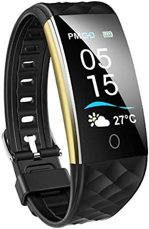 스마트 감시 IP67 방수 날씨 스마트 팔찌 심장 활동 량 계 보수계 컬러 스크린 LineTwitter수신전화 통지 칼로리 시계 남성용 일본어 설명서 iPhone&안드로이드 (블랙) / Smartwatch IP67 Waterproof Weather Forecast Smart Bracelet Heart Rate Ac...