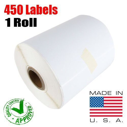 iMBAPrice - 1 Roll of 450 (USA) 4x6 Direct Thermal Labels for Zebra 2844 ZP-450 ZP-500 ZP-505 (1 inch core)