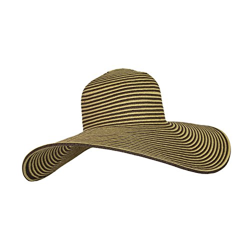 two-tone-ribbon-straw-floppy-garden-hat-wide-brim-sun-hat-upf-50-sun-protection-brown-natural