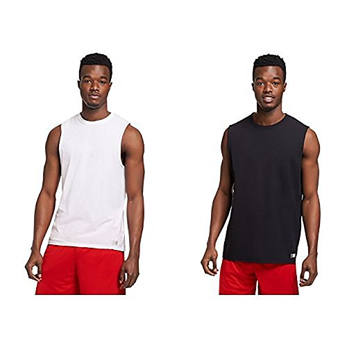 Russell Athletic Men's Essential Muscle T-Shirt, white/black, XXX-Large