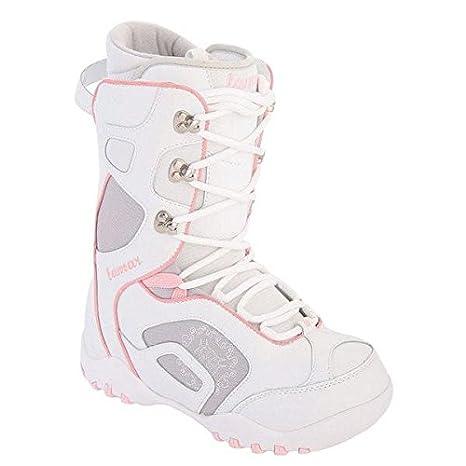 42cd0ea116bb9 Lamar Force Snowboard Boots White Pink Womens Girls 6