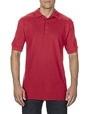 Gildan Premium Cotton Adult Double Pique Sport Shirt Red Large
