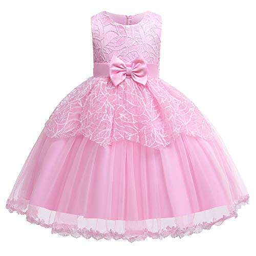 Girls Dresses Blush Sleeveless 1-2 Years for Wedding Pageant Dresses for Girls 1-2 Tulle Ball Gown Children Prom Dresses for Girls 1-2 Party Prom Halloween(Pink80)]()