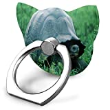Cell Phone Stand Finger Grip Kickstand 360° Rotation Turtle in The Jungle Mobile Phone Holder Finger Grip Holder for IPad, Kindle, Phone X/6/6s/7/8/8 Plus/7, Galaxy S9/S9 Plus/S8/S7,