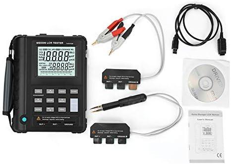 Walfront Digital LCR Meter, MS5308 Portable Handheld LCR Meter 100Khz Inductance Resistance Capacitance Meter Tester Digital Multimeter with Dual LCD Display