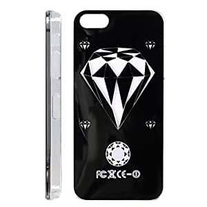 JJE Diamond Pattern Procase Series Snap-On Design LED Flash Light Color Changing Protective ABS Back Case with Battery for iPhone 5/5S