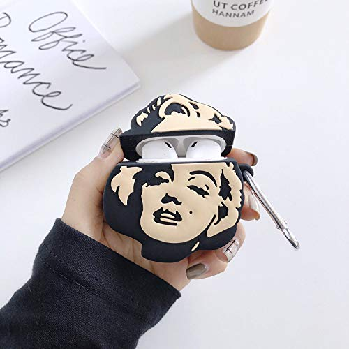 ویکالا · خرید  اصل اورجینال · خرید از آمازون · Airpods Case,3D Marilyn Monroe Pattern Design Protective Case Cover for Apple Airpods 1&2,Airpods Accessories Silicone Cover and Skin for Apple Airpods Charging Case (Marilyn Monroe) wekala · ویکالا