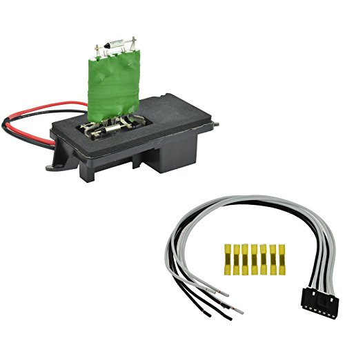 Front Heater Blower Motor Resistor w/Plug & Pigtail for Chevy GMC Pickup Truck ()