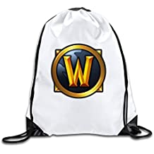 World Of Warcraft Multiplayer Online Game Handbags Drawstring Tote Cinch Pack Backpack Casual Bags