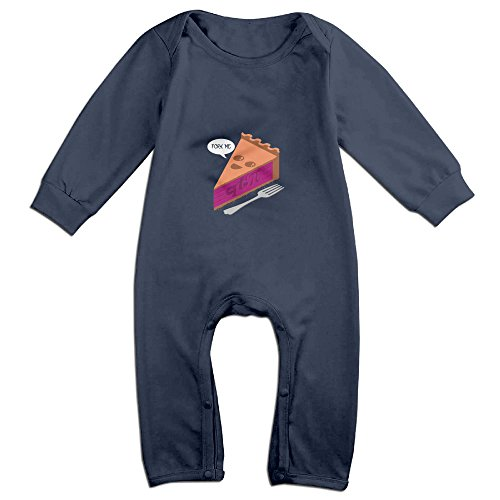 [Raymond Fork Me QT Pi Long Sleeve Baby Climbing Clothes Navy 12 Months] (Pi Day Costume Ideas)