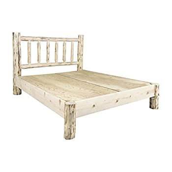 Montana Woodworks MWPBKV Montana Collection King Platform Bed, Clear Lacquer Finish