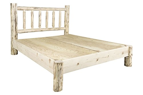 (Montana Woodworks MWPBF Montana Collection Full Platform Bed, Ready to Finish)