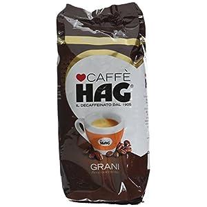 Hag - Caffè in Grani Decaffeinato per Macchina Espresso - 10 Confezioni - Pacco da 500 gr