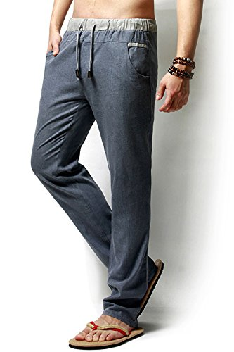 Casual Drawstrintg Pantalon Simgahuva Taille Bleu Vêtements Beach Léger Hommes Élastique 5AwwS6