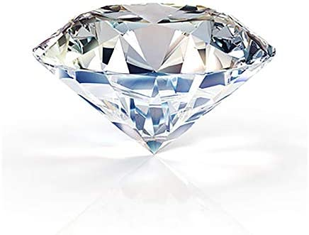 Large Crystal Diamond Paperweight with Stand Jewels Wedding Decorations Centerpieces Home Decor 3.15 inch (Clear)