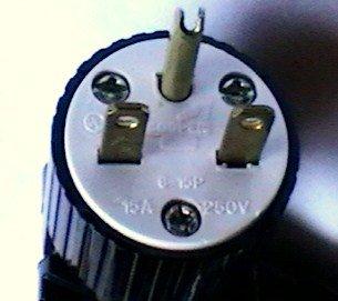 15 Amp Powertronics Patch Cord 250Volt Nema 6-15