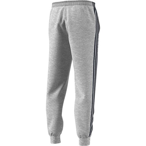 Adidas Gris Pour Heather collegiate À Essentials Hommes Bandes Avec Pantalon Navy Grey Motif medium 3 rxrzpAU